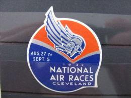 Label Etikett America USA National Air Races Cleveland Flugzeug Plane 1932 - Stamps