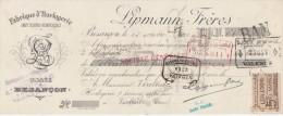 Lettre Change 15/10/1921 LIPMANN Horlogerie BESANCON Doubs Pour Valence Drôme - Lettres De Change