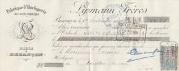 Lettre Change 1/9/1920  LIPMANN Horlogerie BESANCON Doubs Pour Aurillac Cantal - Cambiali