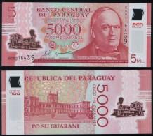 Paraguay P 234 - 5000 5.000 Guaranies 2011 POLYMER - UNC - Paraguay