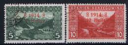 Bosnien-Herzegowina: Mi Nr 89 III + 90 III  Used - Gebraucht