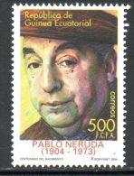 GUINEE EQUATORIALE. N°468 De 2005. Pablo Neruda. - Scrittori