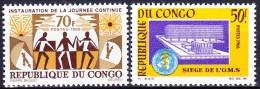 CONGO 1966 YT N° 186 Et 187 ** - Congo - Brazzaville