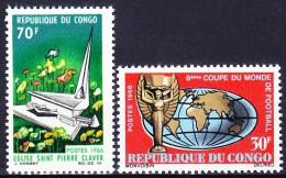 CONGO 1966 YT N° 188 Et 189 ** - Congo - Brazzaville