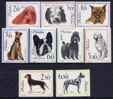 POLAND 1963  Dogs Set Of 9 MNH / **.  Michel 1374-82 - 1944-.... Republic