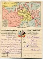 """14/18 -LES CARTES DU FRONT- CARTE DOUBLE 1ère Série - N° 3 - """"AISNE ET OISE"""" - Marcophilie (Lettres)"""