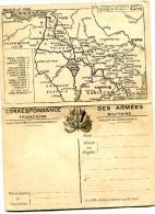 """14/18 -LES CARTES DU FRONT- CARTE DOUBLE 3ème Série - N° 5 - """"LORRAINE"""" - Marcophilie (Lettres)"""