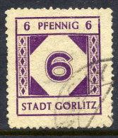 GÖRLITZ 1945 (June) 6 Pfg. Local Issue, Used.  Michel 2 - Soviet Zone