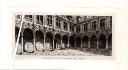 Lithographie Du 19ème S. Intérieur De La Bourse De Lille. - Lithographies
