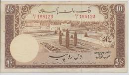 PAKISTAN P. 13 10 R 1957 F/VF - Pakistan