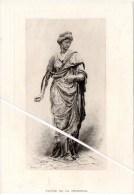 Lithographie Du 19ème S. Statue De La Prudence. - Lithographies