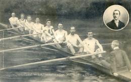 Lot Indivible De Deux Cartes  Theme De L'Aviron - Les Vainqueurs De Henley 1909 - Royal Club Nautique De Gand - Non Classés