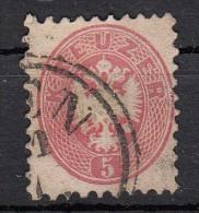 Empire 1867   Armoirie   Aigle En Relief   YT N°29 Dentelé 9 1/2   5 K Rose - Used Stamps