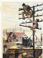 AK A. Serie 500 Jahre Post: Telefonarbeiten Auf Den Dächern Von Berlin  Karte Gel. 1998 - Postal Services