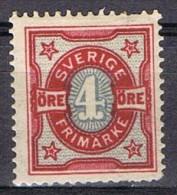 Sello 4 öre SUECIA. Sverige 1903, Num 54 * - Suède