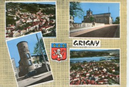 CPSM 69 GRIGNY MULTI VUES     Grand Format 15 X 10,5 Cm - Grigny