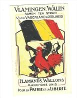 CARTE POLITIQUE FLAMANDS WALLONS MARCHONS UNIS POUR LA PATRIE ET LA LIBERTE WLAMINGEN WALEN SAMEN TEN STRIJD VOOR VADERL