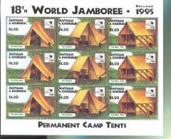 ANTIGUA & BARBUDA  1931 X 3 MINT NEVER HINGED SHEET OF 3  WORLD SCOUTING  JAMBOREE    ( M - Non Classificati