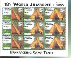 ANTIGUA & BARBUDA  1930 X 3 MINT NEVER HINGED SHEET OF 3 OF WORLD SCOUTING  JAMBOREE - Non Classificati