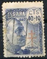 Sello 40+10 Cts Caudillo  Pro Tuberculosos1940. Fechador CORNELLA LLOBREGAT (Barcelona), Num 938 º - 1931-Today: 2nd Rep - ... Juan Carlos I