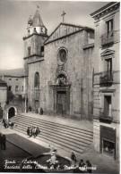 Lazio-latina-fondi Veduta Ingresso  Facciata Chiesa Di S.maria E Piazza Animata - Italia