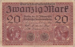 Billet Allemagne 20 Mark Du 20 02 1918 - [ 3] 1918-1933 : République De Weimar