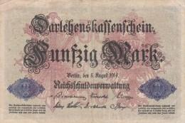 Billet Allemagne 50 Mark Du 05 08 1914 - 50 Mark
