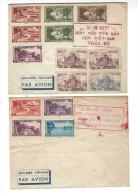 VIET-NAM, Présentation Sur 2 Enveloppes De Nouveaux Timbres 16.8.1951