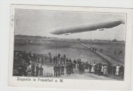 SAK055/ Historische Bildkarte Mit Zeppelin Frankfurt A.M. 1909 - Dirigibili