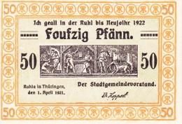 Billet Allemagne 50 Pfennig Du 01 04 1921 - [ 3] 1918-1933: Weimarrepubliek
