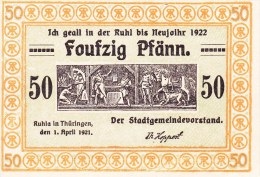 Billet Allemagne 50 Pfennig Du 01 04 1921 - 1918-1933: Weimarer Republik