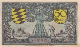 Billet Allemagne 50 Pfennig Du 01 04 1920 - 1918-1933: Weimarer Republik