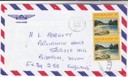 1983 Air Mail  THAMES NEW ZEALAND COVER Stamps 2x 35c SUMMER Climate Weather - New Zealand