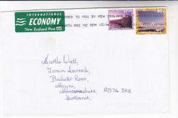 2002 NEW ZEALAND Stamps COVER With INTERNATIONAL ECONOMY POST LABEL ,  SLOGAN Pmk ´ DELIVERED TO YOU BY NZ POST´ - New Zealand
