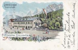Italie - Innichen Pusterthal - Pension Saxonia - Postmarked Innichen 1902 - Rochefort Sur Loire - Bolzano