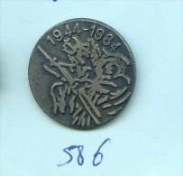 Rare Pins Militaire Anniversaire Debarquement 1944- 1984 Fr586 - Militaria