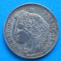 20 Centimes Cérès Argent 1850 A Oreille Basse Cote SUP 80€ QUALITE !!! - Francia