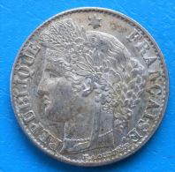 50 Centimes Cérès Argent 1895 A Cote TTB 13€ SUP 35€ - Francia