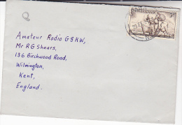 1956 NEW ZEALAND  COVER SOUTHLAND CENTENNIAL Stamps To GB Cattle Sheep Faming Agriculture - Covers & Documents