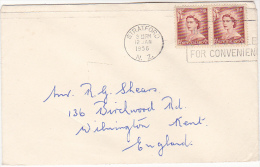 1956 Stratford NEW ZEALAND Stamps COVER To GB - Covers & Documents