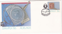 1986 AUSTRALIA ADELAIDE STAMPEX Postal STATIONERY  EVENT Pmk ´AEROPHILATELY DAY ´ Cover Stamps Aviation - Postal Stationery