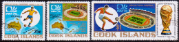 COOK ISLANDS 1974 SG #488-90 Compl.set VF Used Football Championship - Cook Islands