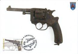 Rumänien  2008  MiNr. 6271 Maximumkarte  Schußwaffen:  Pistole Von 1903 - Maximumkarten (MC)
