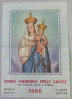 OPERA MADONNA DELLE GRAZIE E S. ANTONIO  /  CALENDARIO  ANNO 1960  _ Formato 24 X 34 Cm. - Calendari