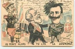 Ah mince alors ! Tu l'as le sourire !! - Rostro 1903 - Loubet et Victor Emmanuele III