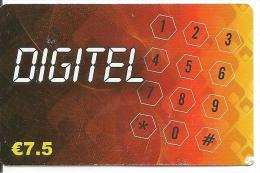 CARTE* PREPAYEE-7.5€-DIGITEL-CLAVIER-31/12/2010-BE - Autres Prépayées