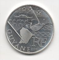 GUYANE - 10 Euro Argent - Série Des Régions 2010 Drapeaux - Etat LUXE - Francia