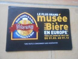 Autocollant   LE PLUS GRAND MUSEE DE LA BIERE - STENAY- MEUSE - Autocollants