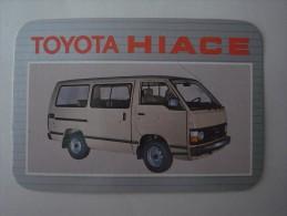 1 CALENDAR SMALL - CARRO AUTOM�VEL AUTOMOVEL CAR VOITURE AUTO COCHE TOYOTA