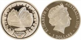 AUSTRALIA - 5 Dollars 2000 Oly Sidney Opera - 31.63 G Fine Silver PROOF - Australia